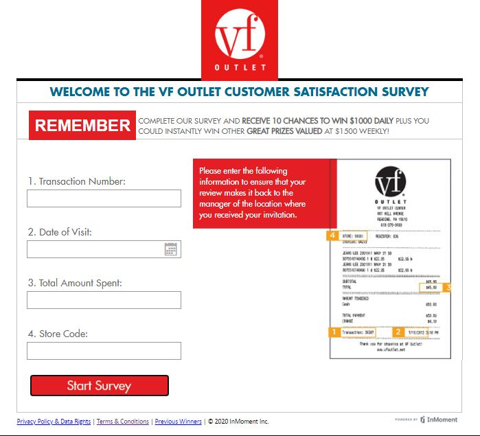 VF Guest Experience Survey